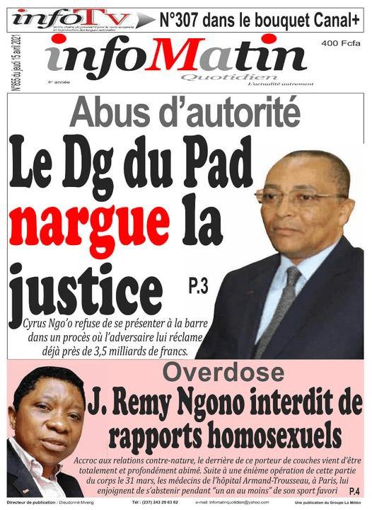 J.Remy Ngono réagit à sa prétendue interdiction des rapports homosexuels en overdose