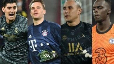 Courtois, Navas, Neuer, Mendy