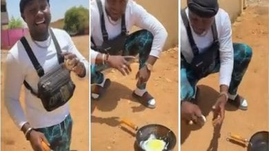 Man-fries-egg-with-direct-heat-from-sun-in-Sudan