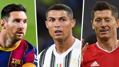 Messi, Ronaldo, Lewandowski