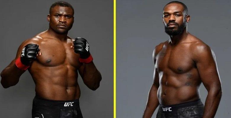 Ngannou et Jones UFC