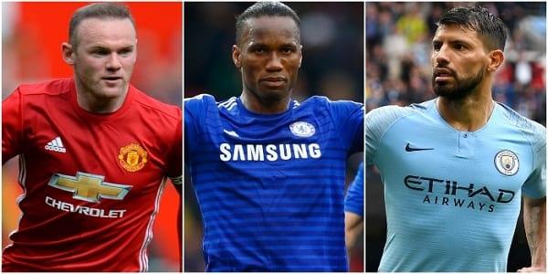Rooney, Drogba, Aguero