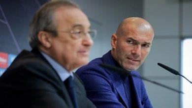 Zidane et Pérez Real Madrid