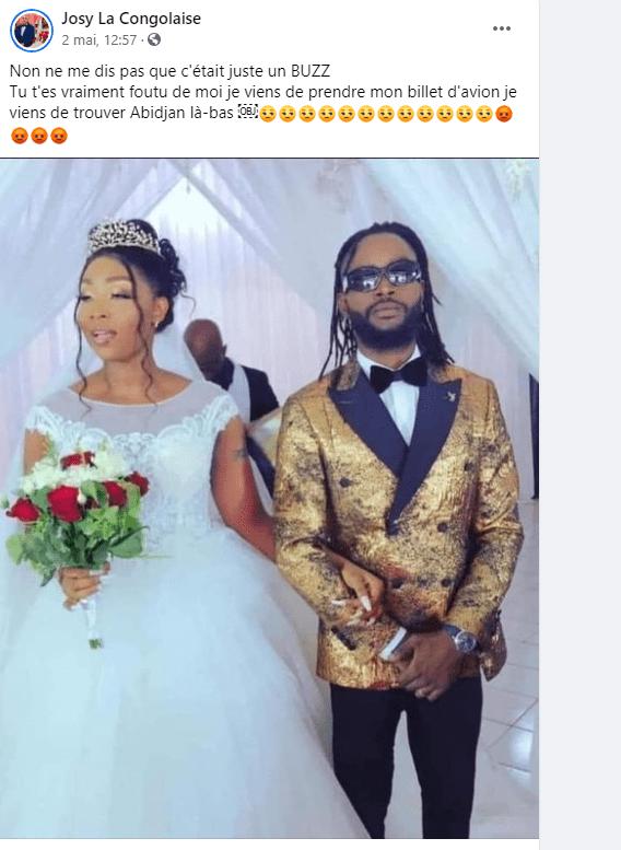"""Côte d'Ivoire/""""Faux mariage"""", mécontente, La Congolaise fustige Vitale: """"je suis déçue de toi"""""""