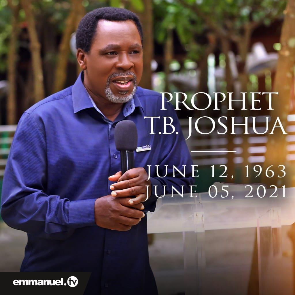 Le populaire prophète Nigérian TB Joshua est mort