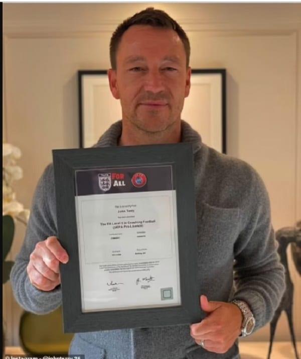 Football : la légende de Chelsea, John Terry a obtenu sa licence UEFA Pro