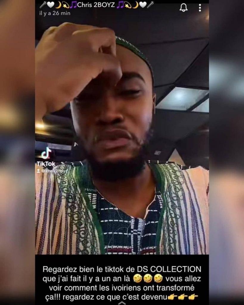 Accusé d'avoir pleuré suite à des injures sur internet, Chris 2 Boyz réagit