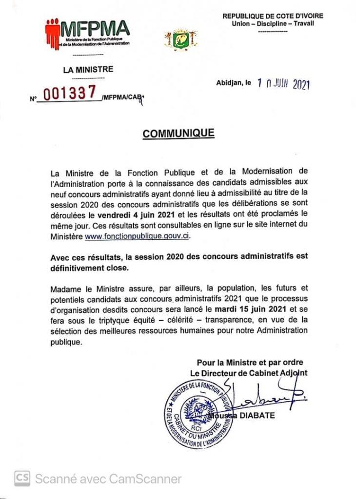 Côte d'Ivoire / Fonction publique : voici les concours administratifs qui seront lancés le 15 juin 2021