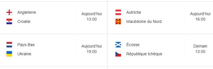 Euro 2020: Pays-Bas-Ukraine...voici le programme de la journée