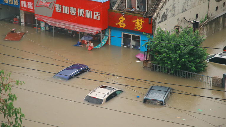 Inondations en chines