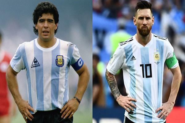 collage-de-messi-y-maradona-con-la-seleccion-argentina–collage-efe