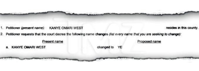 Kanye West demande au tribunal de changer légalement son nom