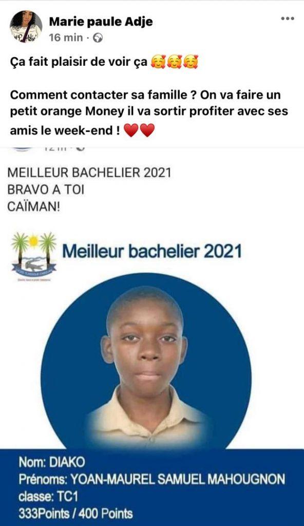 Côte d'Ivoire/ l'actrice Marie-Paule Adjé: voici le cadeau qu'elle veut offrir au meilleur bachelier de l'année 2021