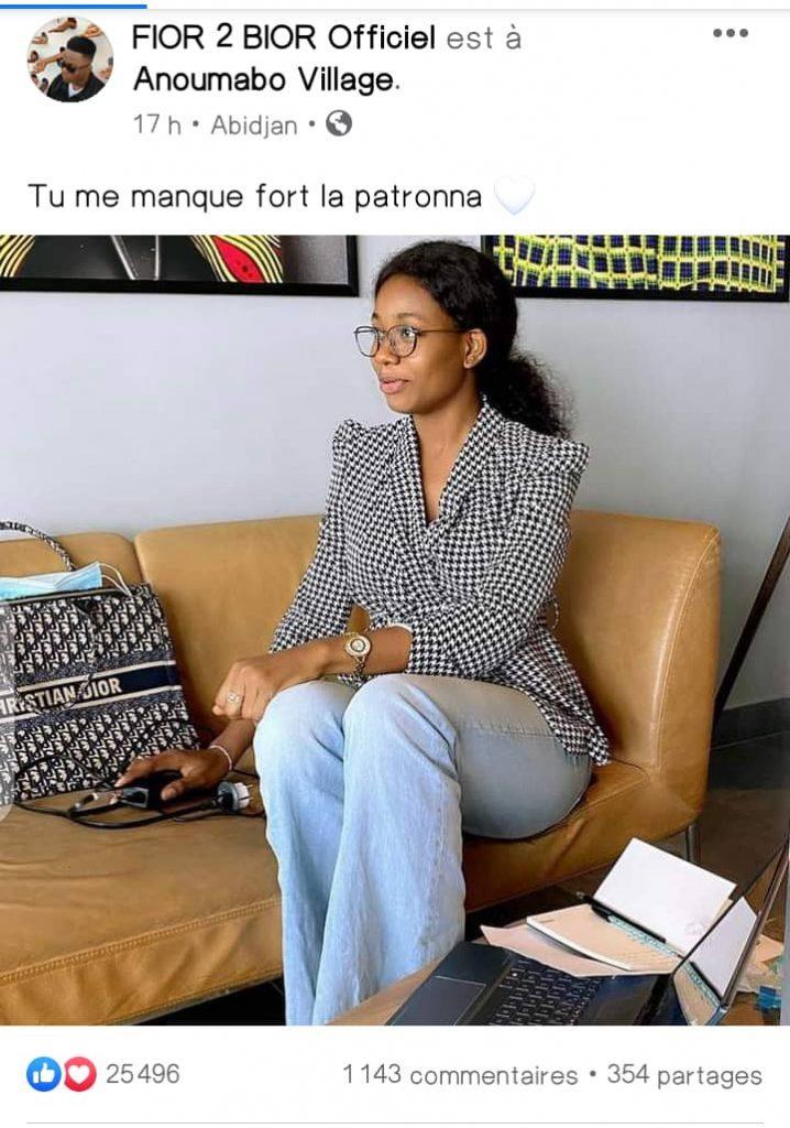 Côte d'Ivoire/ Voici le message de Fior De Bior à sa chérie