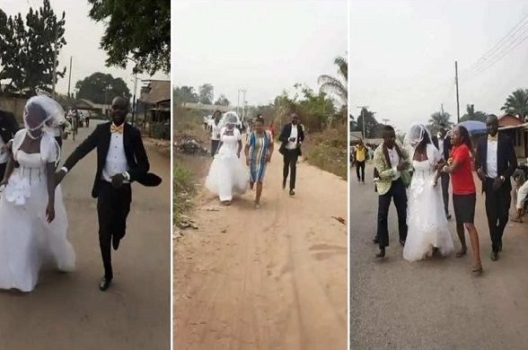 Bride-runs-away-from-wedding-venue-after-after-finding-out-her-fiance-is-a-taxi-dr