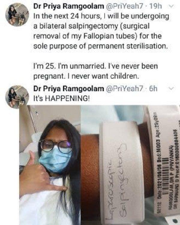 Un médecin de 25 ans qui ne veut jamais d'enfants fait enlever ses trompes de Fallope