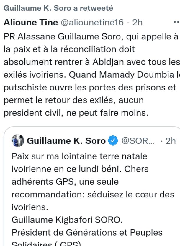 Côte d'Ivoire/ Un expert des droits de l'homme interpelle Ouattara sur la question de l'exil de Soro Guillaume