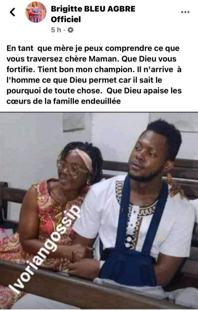 Côte d'Ivoire / le message de Brigitte Bleu après la publication d'une nouvelle photo de Tenor au palais de justice