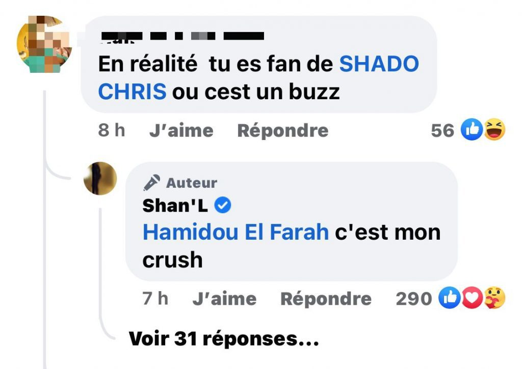 People/ Supposée relation amoureuse avec Shado Chris: Shan'l dit toute la vérité