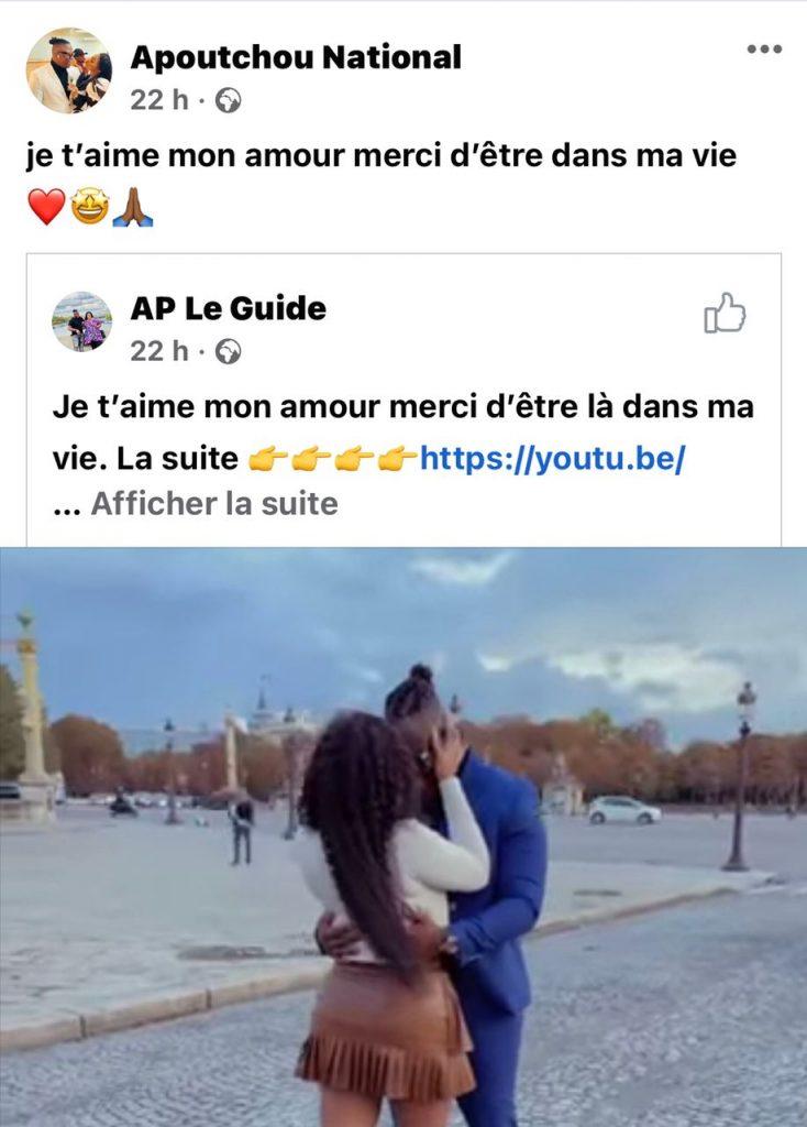 Le baiser d'Emma Lohoues à Apoutchou National à Paris enflamme la toile-VIDEO