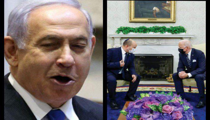 former-israeli-leader-benjamin-netanyahu-mocks-joe-biden-on-facebook-live-suggesting-he-fell-asleep-while-meeting-new-israeli-pm-video